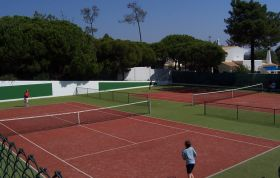 Tennis courts at Val Verde and Watersports lake nearby