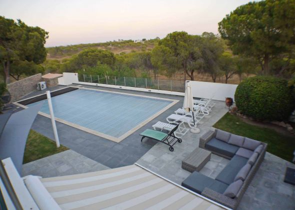 Villa Sola, 113 Dunas Douradas view from upper terrace